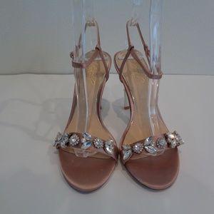 Badgley Mischka Shoes - Badgley Mischka Jewel TEX Blush Satin Sandals